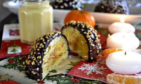 Boules de Noël chocolat et clémentines curd