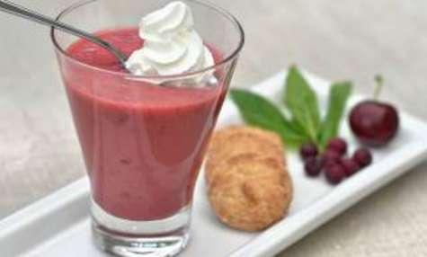 Smoothie fraise cerise