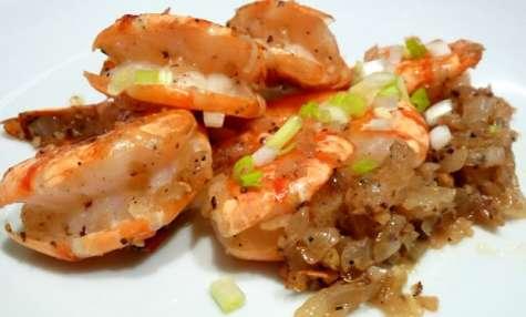 Crevettes Sautées Au Sel & Poivre
