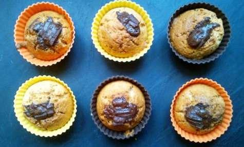Muffin aux amandes et coeur de chocolat