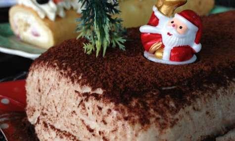 La dacquoise amandes-cacao et sa mousse légère à la crème de marrons