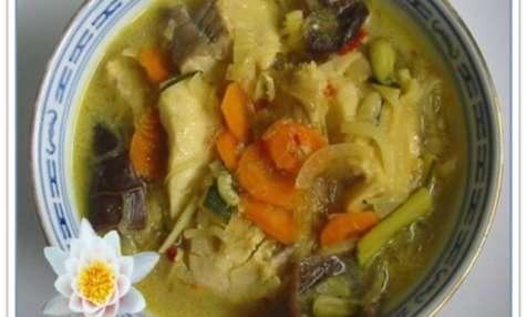 Soupe de Poisson au Curry et Lait de Coco