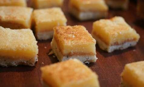 Carrés Citron – Pavot