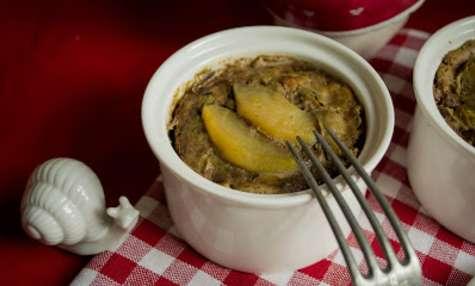 Petits pâtés de dinde et foies de volaille à la pomme