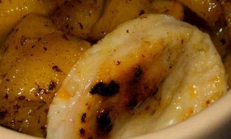 Petites cocottes de boudin blanc aux pommes et à la vanille