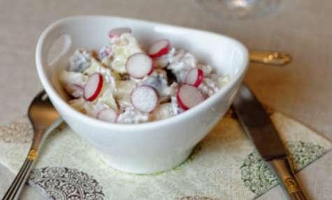 Salade de harengs aux deux pommes