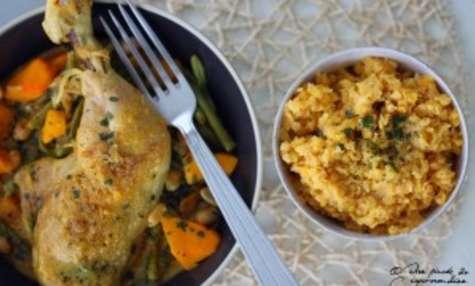 Curry au poulet, au potimarron et à la cacahuète