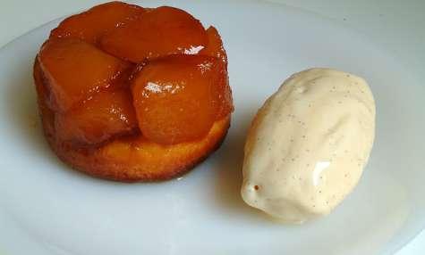 Brioched Tatin and vanilla ice cream