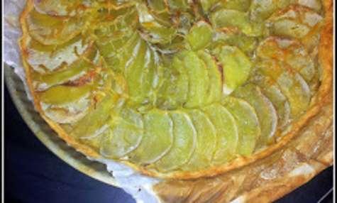 Tarte poireau-pomme de terre