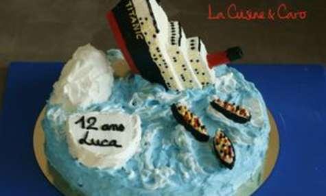 Gâteau d'anniversaire Titanic
