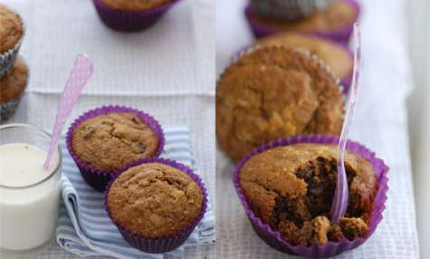 Muffins café, vanille et chocolat