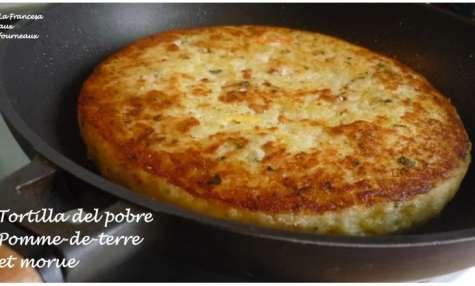 Tortilla de patata y bacalao