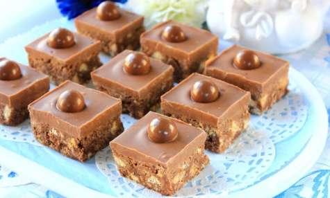 Carrés au chocolat et au lait malté