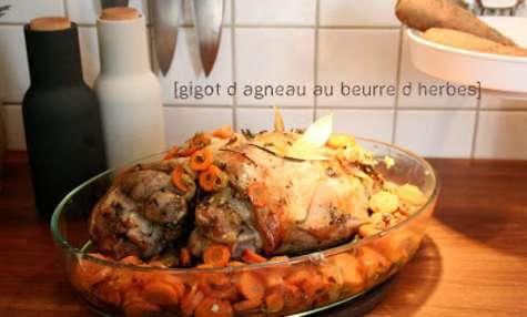 Gigot d'Agneau au Beurre d'Herbes
