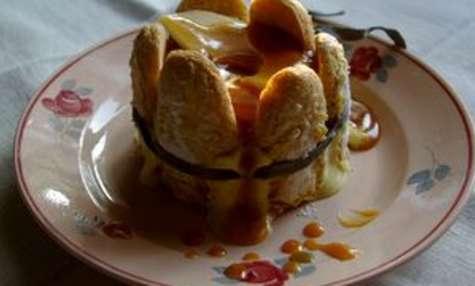 Charlottine pommes compotées à la cannelle