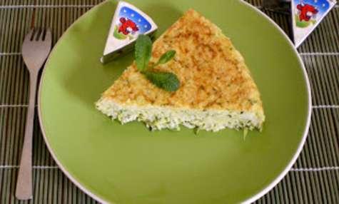 Gâteau de riz aux courgettes menthe et vache qui rit