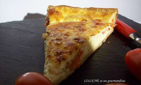Quiche parmesane à la mozzarella