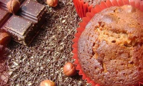 Cakes au chocolat praliné et noisettes