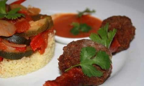 Mijotés de légumes & ses brochettes épicées