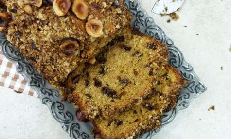 Cake moelleux noisette et chocolat, à la farine complète de kamut