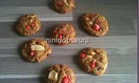 Cookies pralines roses chocolat blanc