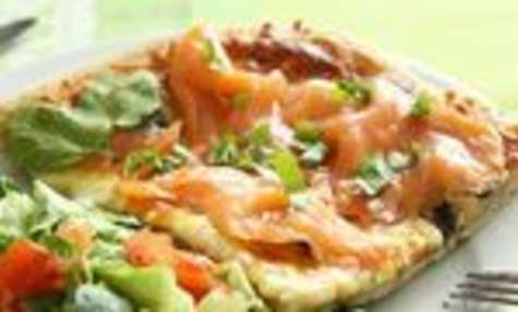 Pizza au saumon