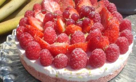 Cheesecake allégé et sans cuisson aux fruits rouges