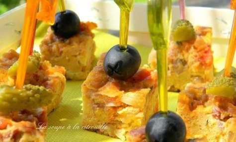 Tortilla à la tomate et au jambon Serrano