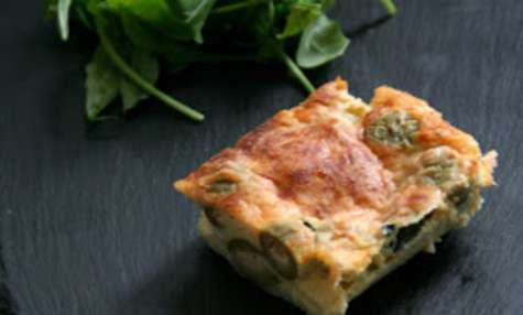 Clafouti Courgettes et Olives