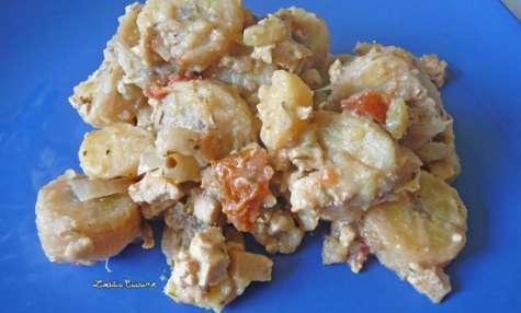 Poyos (bananes vertes) au tofu