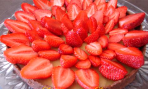 Tarte pâtissière fraise banane