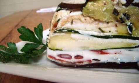 Terrine de légumes d'été et poulet romarin