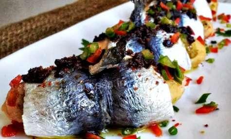 Pintxo de sardines farcies aux poivrons