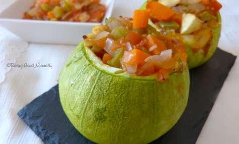 Courgettes farcies aux légumes