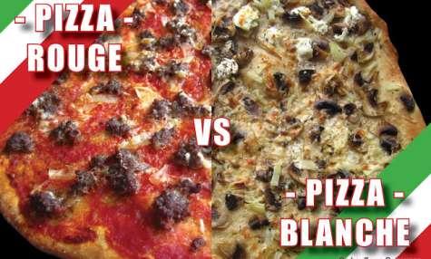 Pizza Rouge et Pizza Blanche
