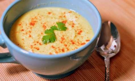 Soupe de Maïs au poivron jaune et piment doux