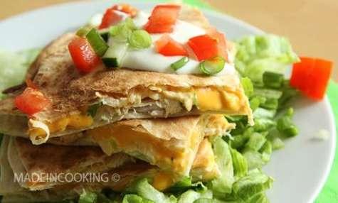 Quesadillas au poulet et au fromage