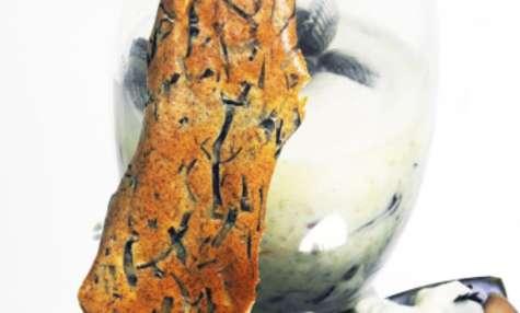 Risotto aux algues et coquillages - Crème de céleri - Absinthe