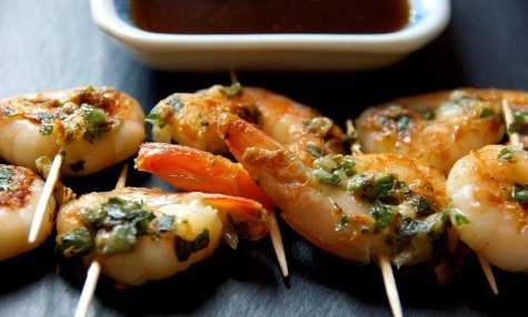 Crevettes à l'ail