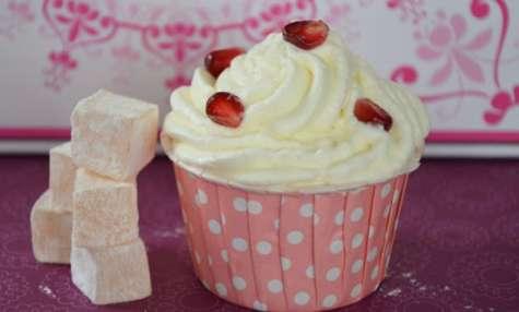 Cupcakes rose loukoums
