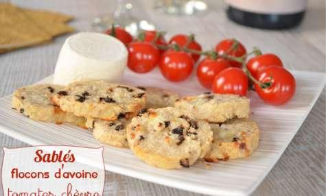 Sablés tomates séchées chèvre flocons d'avoine