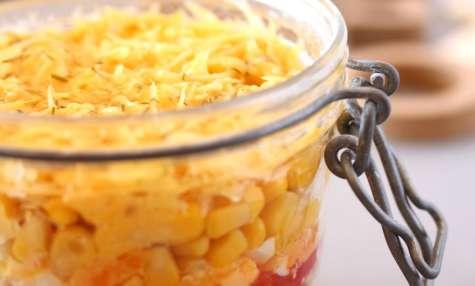 Salade de maïs et l'ananas