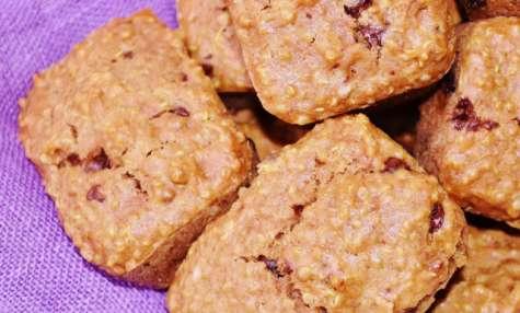 Muffins au quinoa et aux pépites de chocolat