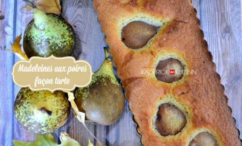 Tarte madeleine aux amandes et poires façon bourdaloue