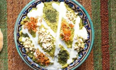 Dip iranien d'aubergines au roquefort