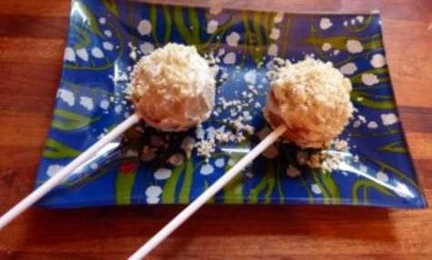 Cake pop roquefort-poire