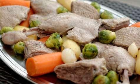 recettes de cuisse de canard et de choux de bruxelles