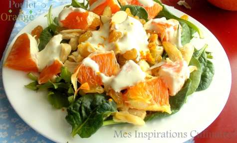 Salade a l'orange et curry