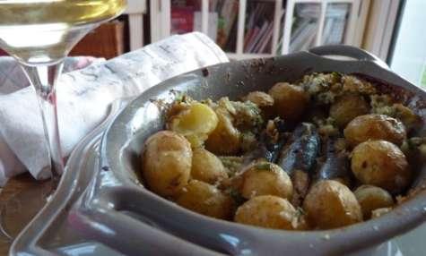 Sardines de Croix-de-Vie en croûte de sel