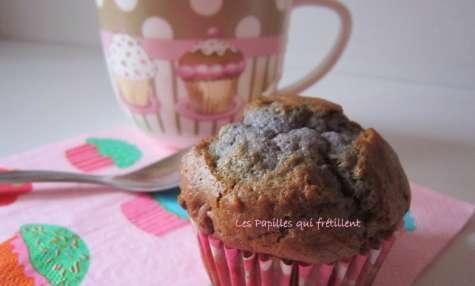 Muffin chocolat au lait et framboises